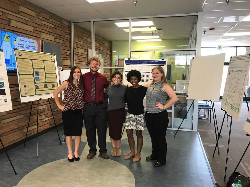 2017 REU Students at poster session