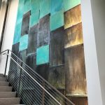 Copper Wall in Chemistry REsearch building